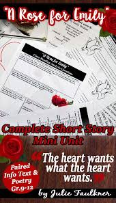 best school stuff images school deutsch and gym a rose for emily literature guide unit quiz project prompt nonfiction
