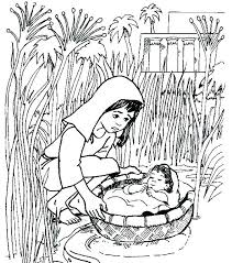 Baby Moses Coloring Page Baby Coloring Page To See Printable Version