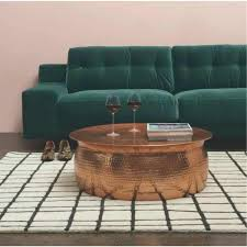 hammered coffee table hammered rose gold finish coffee table hammered coffee table storage