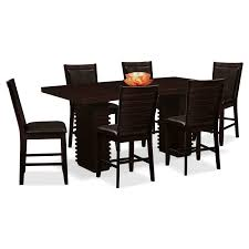 Outstanding 6 Chair Dining Room Table With Cosmo And Chairs Merlot