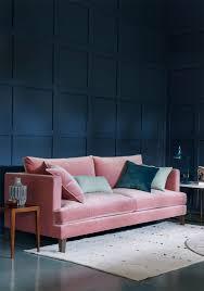 lamps living room lighting ideas dunkleblaues. Samtsofa Pastellton Rosa Dunkelblaue Wandfarbe Petrol Modern Lamps Living Room Lighting Ideas Dunkleblaues