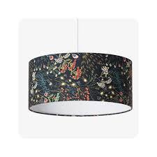 Voir plus d'idées sur le thème abat jour, abat jour lampe, abat. Abat Jour Ou Suspension Style Boho Chic Nature Motif Floral Bleu Nuit Marine Symphonie Navy
