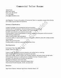 Objectives For Resume Examples Elegant Bank Teller Resume Example