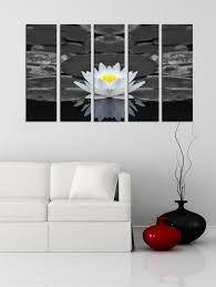 large wall art 5 panel lotus flower and water lily canvas prints prints for wall on lotus flower canvas wall art with large wall art 5 panel lotus flower and water lily canvas prints