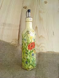 decoupage oil dispenser oil bottle olive oil bottle oil