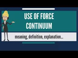 What Is Use Of Force Continuum What Does Use Of Force Continuum Mean