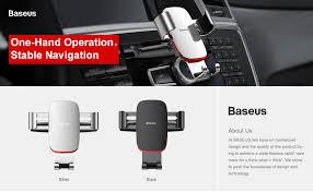 <b>Baseus Gravity Car Phone</b> Holder 360 Rotation Mobile Phone Clip ...