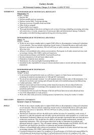 Research Technician Resume Senior Research Technician Resume Samples Velvet Jobs 8