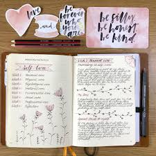 Personal Journaling Bullet Journal Personal Care Log Flower Drawing