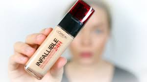 l oreal infallible 24hr foundation review wear test