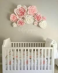 flower wall decor for baby nursery