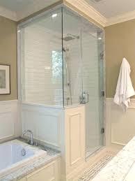 shower pony wall height standard shower knee wall height