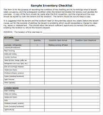 Stunning Template Of Home Inventory Checklist Sample With