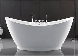 european style resin freestanding tub custom size deep soaker tubs for s