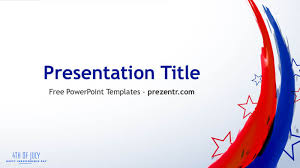 Free 4th Of July Powerpoint Template Prezentr Ppt Templates
