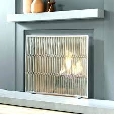 stainless steel fireplace