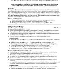 Sample Resume For Entry Level Pharmaceutical Sales Rep Best Medical ...