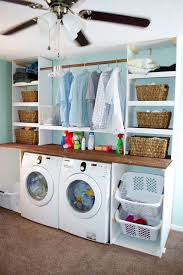 good paint color for small laundry room. aviary blue light and white laundry room paint color good for small o