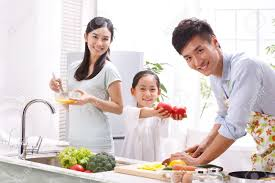 Family Kitchen Family In Kitchen Stock Photo Picture And Royalty Free Image