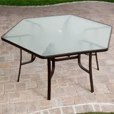 hexagon glass patio table plans hexagonal with chairs sethexagon pics with charming patio table top replacement idea outside glass and chairs paint small