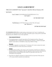 Personal Loan Agreement Template Between Friends Free Forms