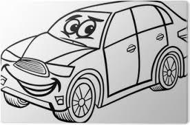 Fotobehang Suv Auto Cartoon Kleurplaat Pixers We Leven Om Te