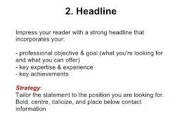 Resume Headline Examples Grand Capture Strong Best And Cover Letter