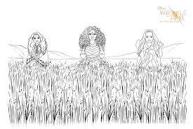 Free A Wrinkle In Time Coloring Pages Activity Sheets Let Kids