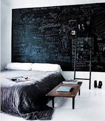 Black Board Wall In Any Room Seems Initially Like A Good Idea. But All That  Chalk Dust In A Bedroom Would Be Really Unhealthy And THIS Disturbs Me.