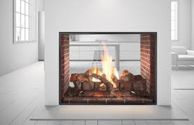custom see through wood burning indoor outdoor fireplace with regard to see through fireplaces ideas