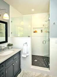 bathroom glass wall panels cost showers half shower how to build a traditional with ideas grey glass wall