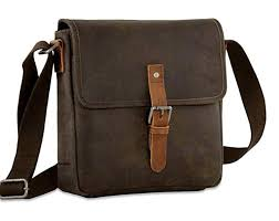 jack georges dakota cross messenger brown distressed buffalo leather bag 0