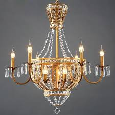 rustic lighting chandeliers vintage french style crystal chandelier light home country creative past outdoor