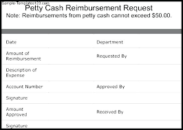petty cash reimbursement template petty cash reimbursement request template sample templates