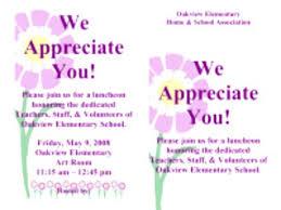 Appreciation Dinner Invitation Wording Teacher Appreciation Luncheon
