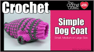 Free Crochet Dog Sweater Patterns Awesome Crochet Simple Dog Sweater Tutorial The Crochet Crowd