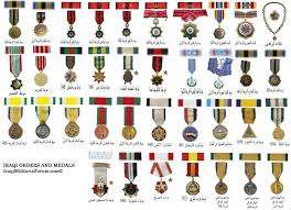 Medals And Ribbons Chart Iraqi Military Orders Medals And Ribbon Chart Iraqi