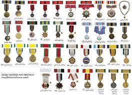 Iraqi Military Orders Medals And Ribbon Chart Iraqi