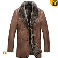 fur leather jacket men