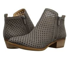 lucky brand womens basel3 perforated leather ankle bootie thumbnail