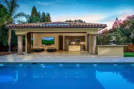 indoor outdoor pool house. With Porcelanosa Kitchen Designer Amandine Tosello To Design A New Construction, Indoor/outdoor For Pool House In Saratoga, California. Indoor Outdoor P