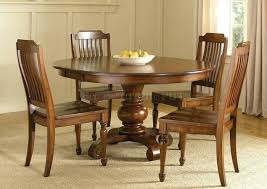 dining room solid wood round dining room table and chairs wood round dining table