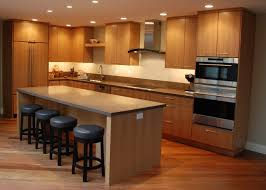 ... Kitchen Recessed Lighting Ideas Over Modern Kitchen Design With Kitchen  Island Plus Barstools: Large ...