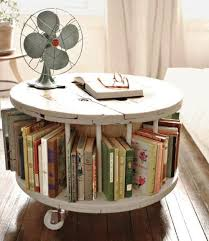 diy vintage furniture. Shabby Chic Round Coffee Table Bookshelf, Vintage Furniture, Repurposed Diamond In The Spaces For Diy Furniture