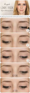 you can use a little bit of black eyeshadow to clean up a splotchy eyeliner line