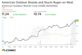 Smith And Wesson Stock Chart Gun Stocks Pare Initial Gains Following The Florida Shooting