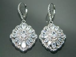 crystal chandelier earrings for wedding bridal cubic zirconia earrings crystal chandelier earrings large cz wedding earrings
