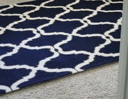 navy moroccan trellis rug