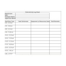 Employee Time Log Sheet Under Fontanacountryinn Com