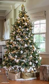 Lia Griffith, Gold and Silver Christmas Tree Ideas